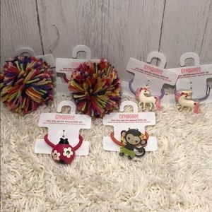 Gymboree Lot - Hair Ties - Elastics - Unicorn